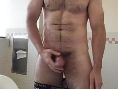 Hot Hairy Guy Pissing