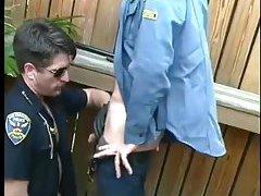 Aroused Cops Sucking Outdoor