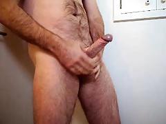 Daddys big cock jerking and cumming tons