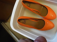 Pissing Orange Platforms fm MrMessyshoes P5