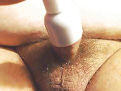 Precum & Thick CUM into improvised Penis Cock Vibrator