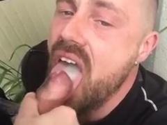 Cum in mouth in public