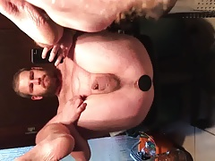 Big buttplug stretch ass painfully of slut