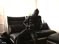 Gay In Latex Suit Teasing