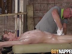 Old dirty master Sebastian Kane handjobs Darren Cross