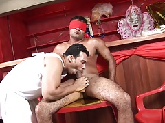 Sexy stud moans while his asshole is getting fucked hard by his boyfriend