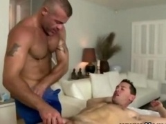 Homosexual straight dude massage seduction fellation
