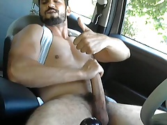 Horny hunks in car 28