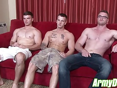 Hardcore blowjob and fucking at home with Ivan James