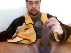 Sexy Str8 Danish Monstercock cums on a paper towel #27
