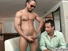 Steve gives bj fat black cock