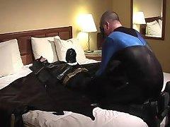 Naughty Guy In Batman Suit Sucking