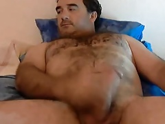 Amazing bear jerking off