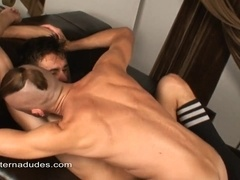 A twink allows his buddy to fuck his ass deep and hard from behind