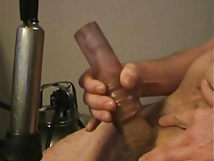 thick dady and his milking machine