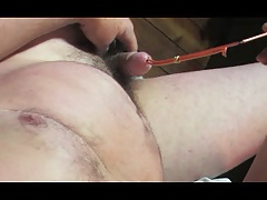 gay man of cock urethral sounding toy