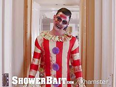 ShowerBait Masked man shower fucks tight ass hunk