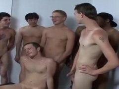 Homosexual bukkake give head fuck and cum cumshot on face