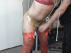 Sissy punctured and milked two