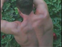 Sexy gay cumming a load