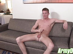 Horny Jacob shoots a nice hot load all over the place