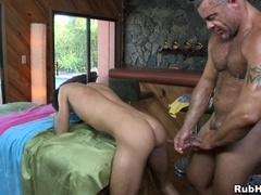 Horny poofter Trace Michaels fucks Tyler Haul's asshole from behind