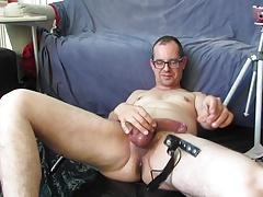 Cum on my bare foot.