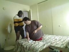 Black fella fucking big overweight slightly fat
