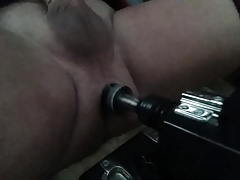 Pounding my ass with my dildo machine