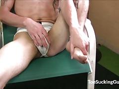 Foot Sucking And Cock Masturbation