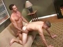 Daddy sizeable phallus barebacking his boy.