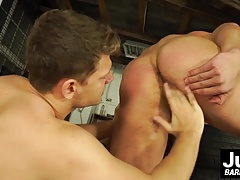 Peter and Rosta Benecky barebacking in the car shop for real