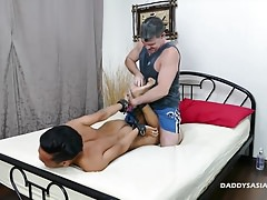 Daddy and Asian Boy Fucking Bareback