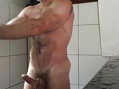 Shower boner