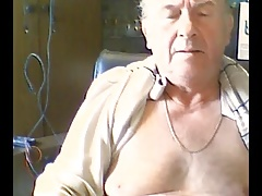 Grandpa cum on cam scene 76