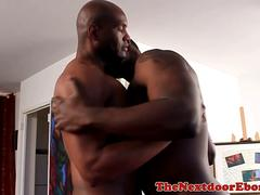 Muscular black hunk pounded doggystyle