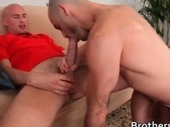 Hot BF gets his butt fucked on couch