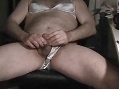 Satin bra and panties