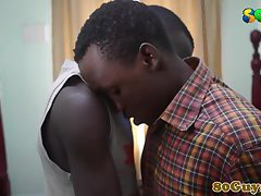 Straight african amateur gets cocksucked