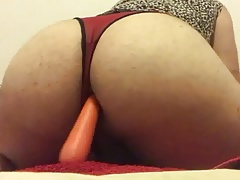 Carrot in my sissy fat ass
