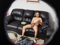 Randy Guy Beating Off On Hidden Cam