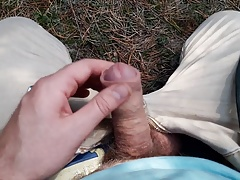 Masturbstion in forest