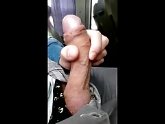 cum in bus