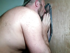 Buddies sucking each other at the glory hole with CIM