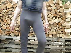 My tight spandex hiking leggings.
