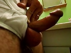 Metal ring weight around dick & balls small penis erection