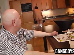 Sexy naked cleaner gets his ass serviced