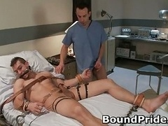 Muscled jason and additionally Penix in extreme gay bondage
