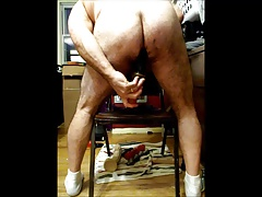 Long dildo in my ass.