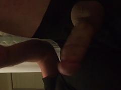 Jerking for quiet orgasm in a quiet house.... cumshot